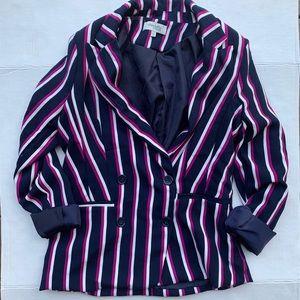 Charlotte Russe Navy Striped Blazer